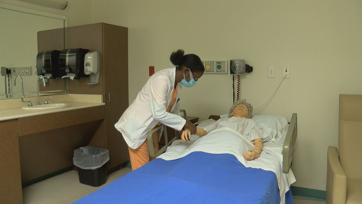 Simulation room at Albany Technical College