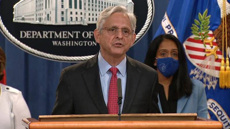 The Department of Justice held a news conference with Attorney General Merrick Garland to...