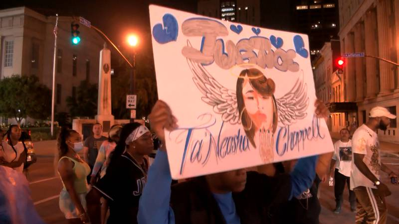 Protesters were in the streets of Louisville on Saturday demanding justice for 23-year-old...