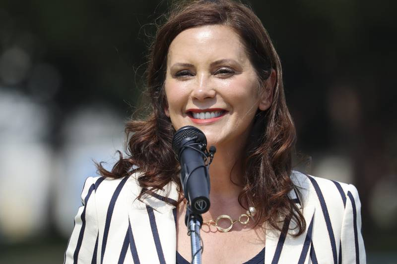 Gov. Gretchen Whitmer visited St. Clair Shores to highlight a $150 million investment in local...