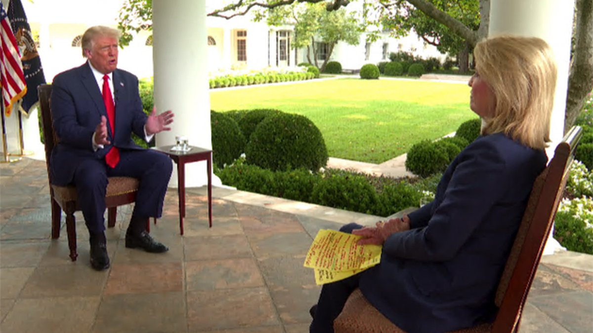 Political analyst Greta Van Susteren sits down with President Donald Trump in a prime time...