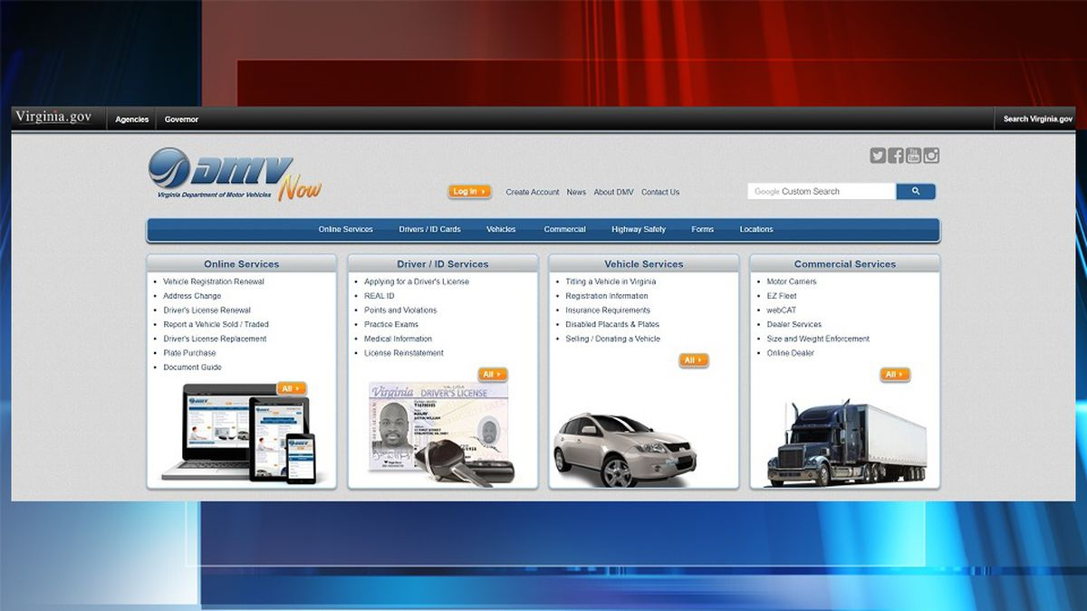 Website for the Virginia Department of Motor Vehciles (FILE)