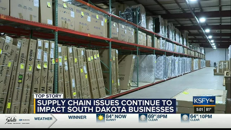 Supply chain issues continue to impact South Dakota businesses