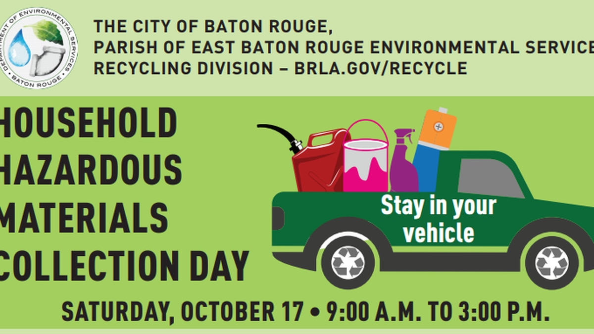 The event is Saturday Oct. 17, drop off is from 9 until 3pm at the LSU Touchdown Village Lot,...