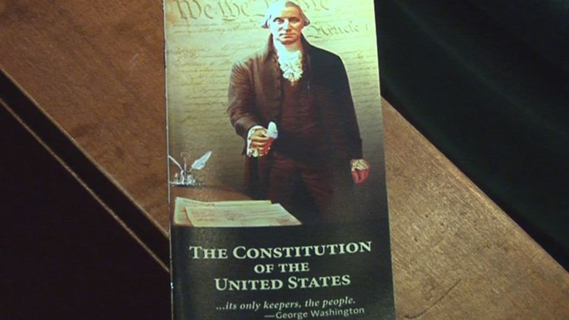 A pocket copy of the U.S. Constitution - ready to be read.